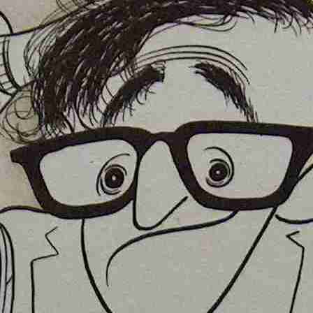 Caricature of Woody Allen